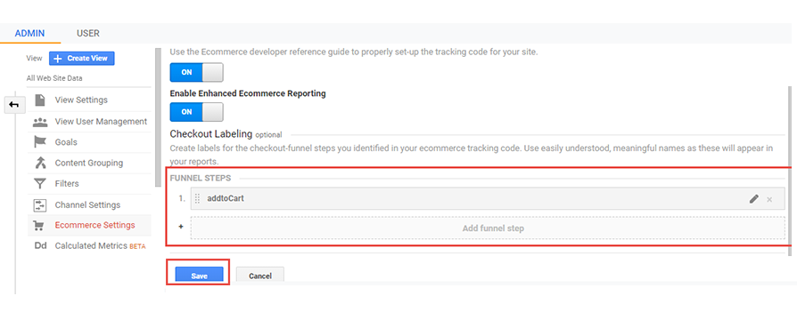 ecommerce tracking with google