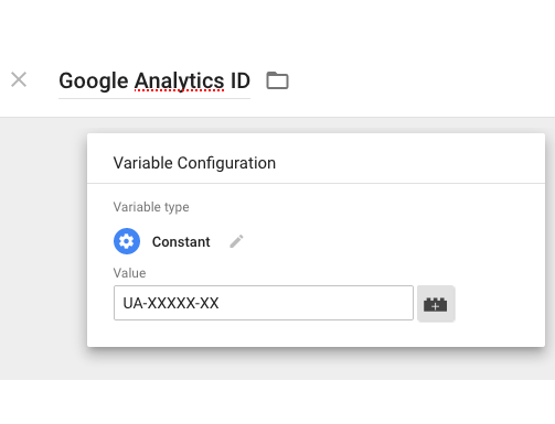google tag manager example