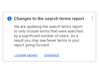 google search terms update