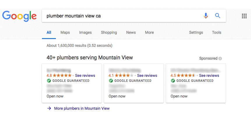 Google Guaranteed Result