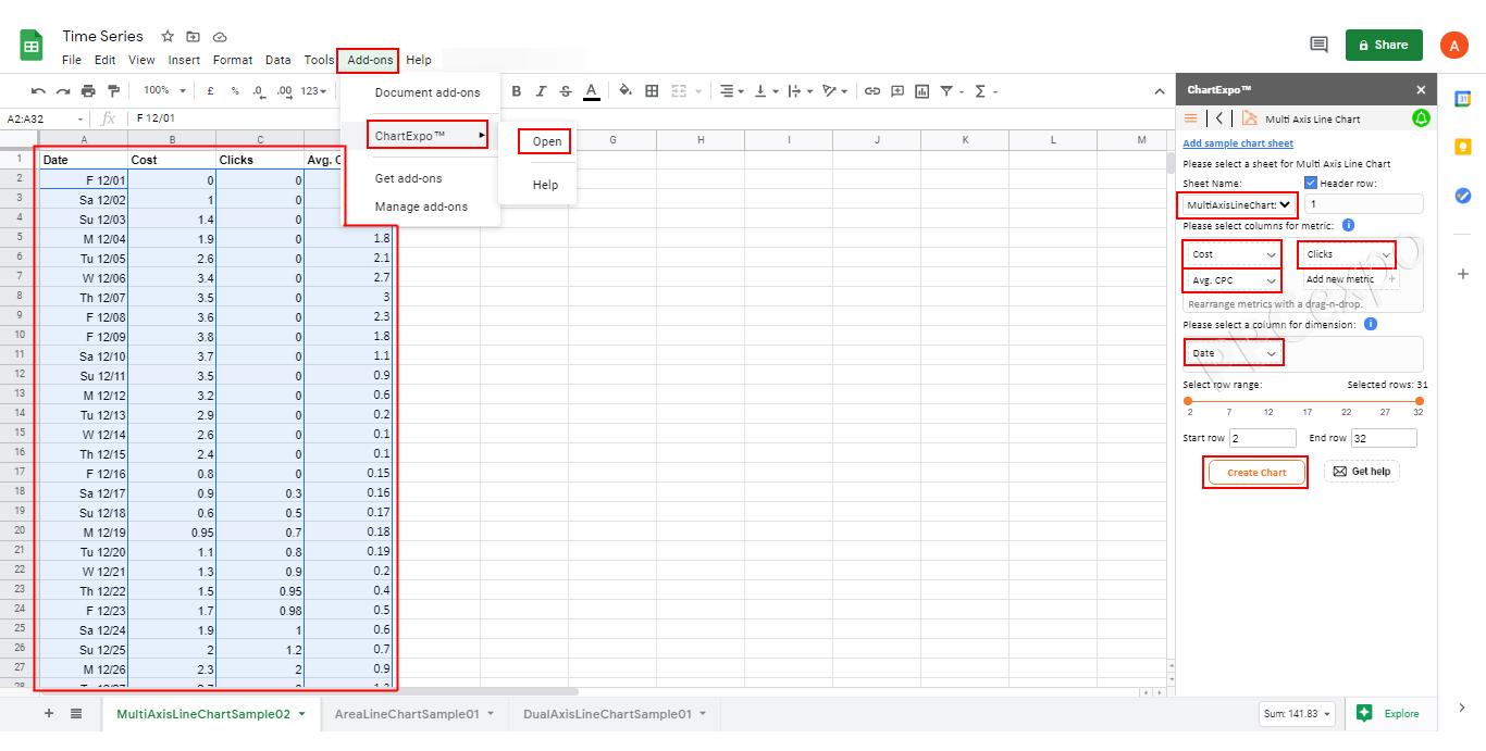 Google Sheets Data Visualization